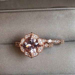 Jewelry - ❤️2pcs Rose Gold Engagement Ring Wedding Band Set